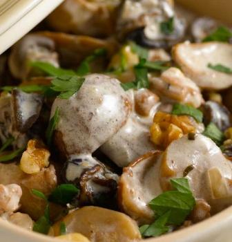 Fricassée d'escargots aux champignons