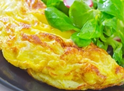Omelette aux escargots